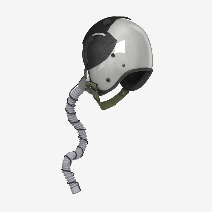 米軍パイロットヘルメット royalty-free 3d model - Preview no. 9