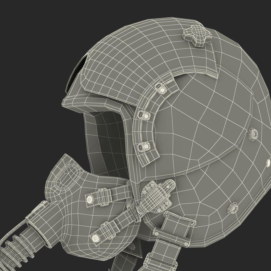 米軍パイロットヘルメット royalty-free 3d model - Preview no. 32