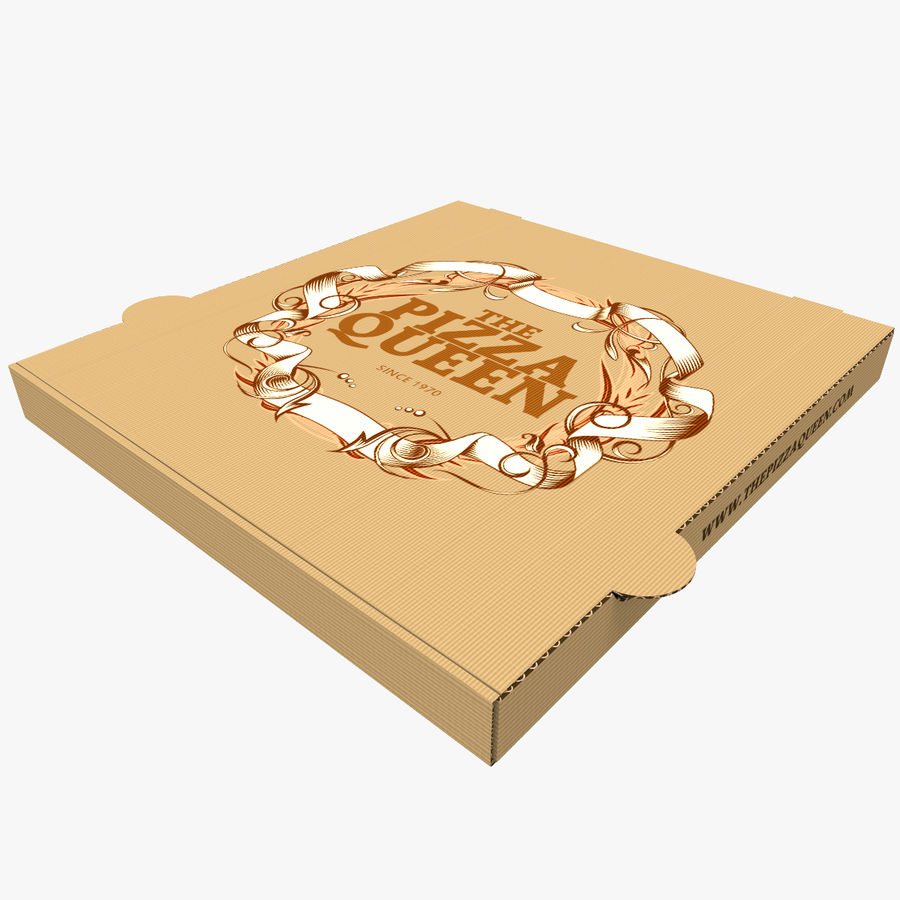 Pizza Box royalty-free 3d model - Preview no. 1
