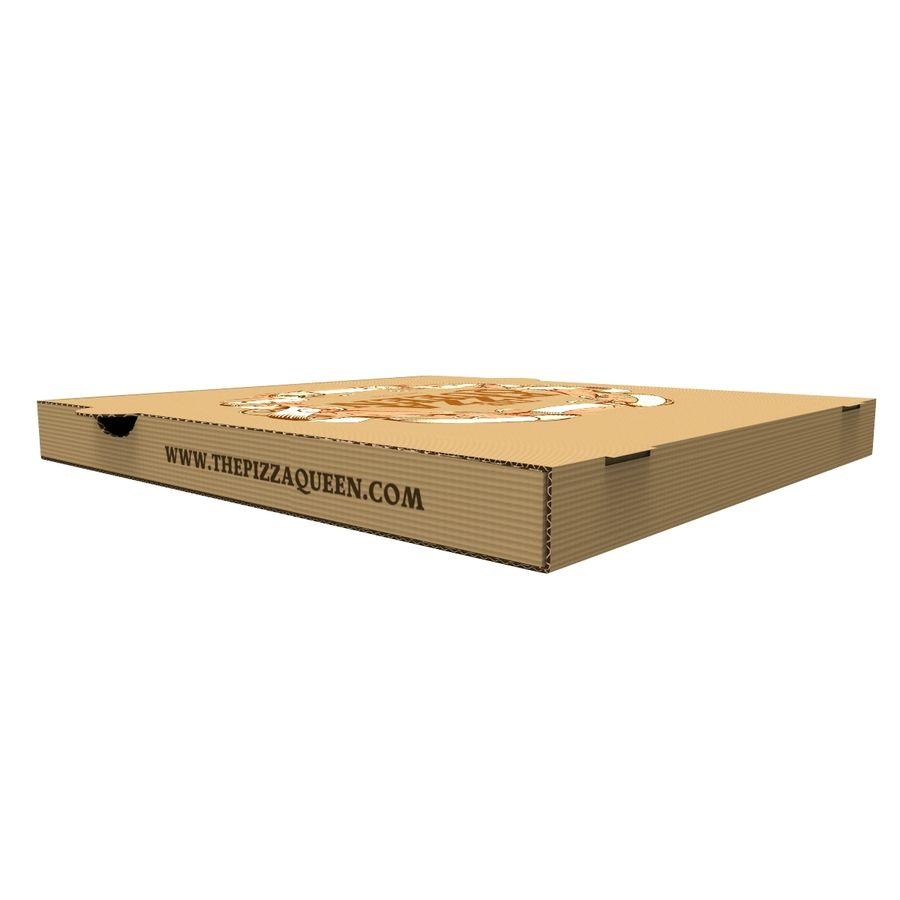 Pizza Box royalty-free 3d model - Preview no. 7