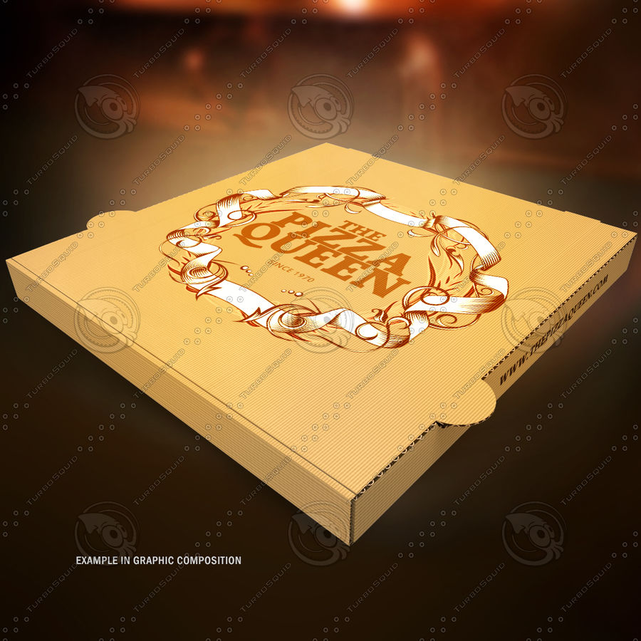 Pizza Box royalty-free 3d model - Preview no. 10