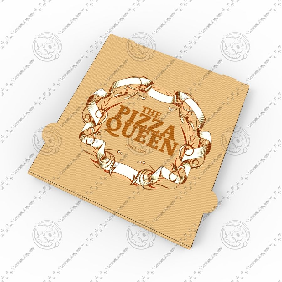 Pizza Box royalty-free 3d model - Preview no. 3