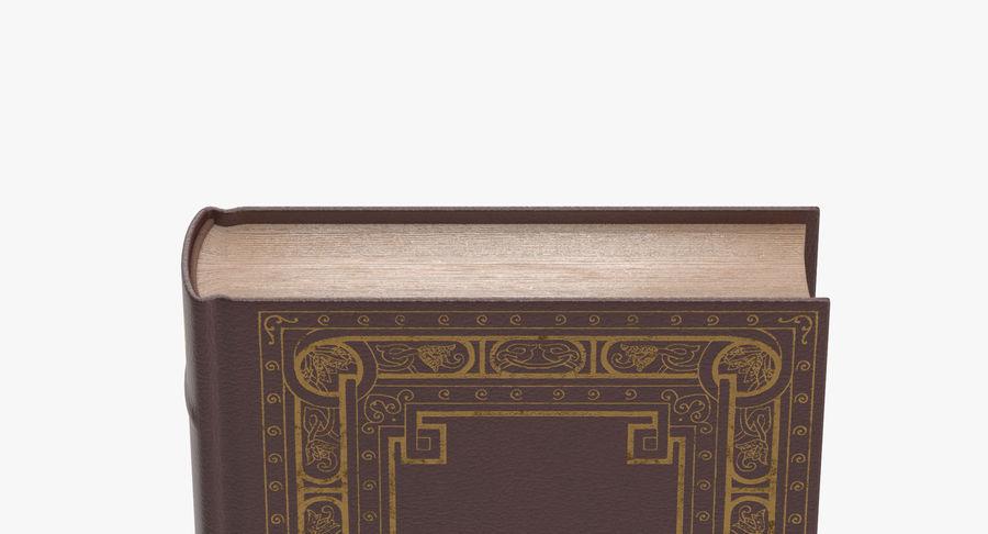 クラシックブック02スタンディング royalty-free 3d model - Preview no. 8
