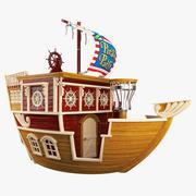 Childrens Pirate Ship 3d model