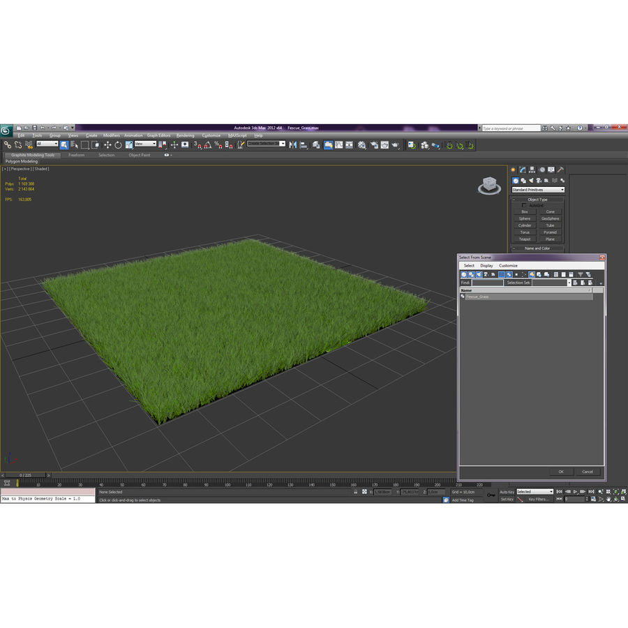 Fescue Grass royalty-free 3d model - Preview no. 15