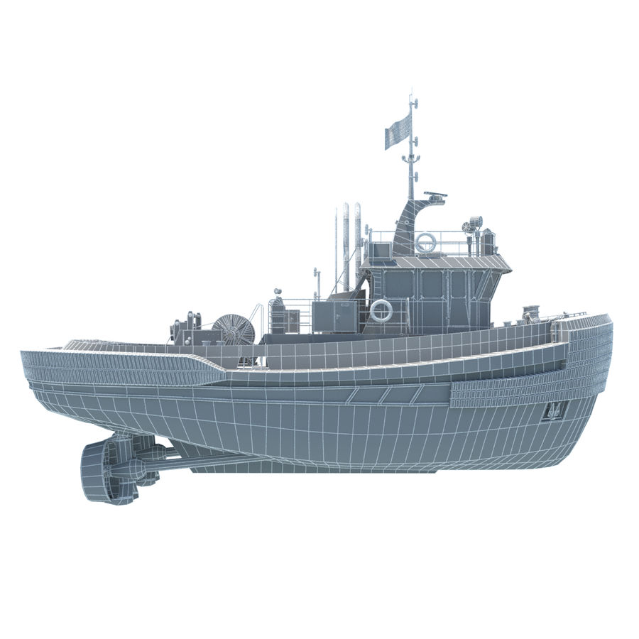 Tugboat type Twin Screw 19.5m length royalty-free 3d model - Preview no. 17