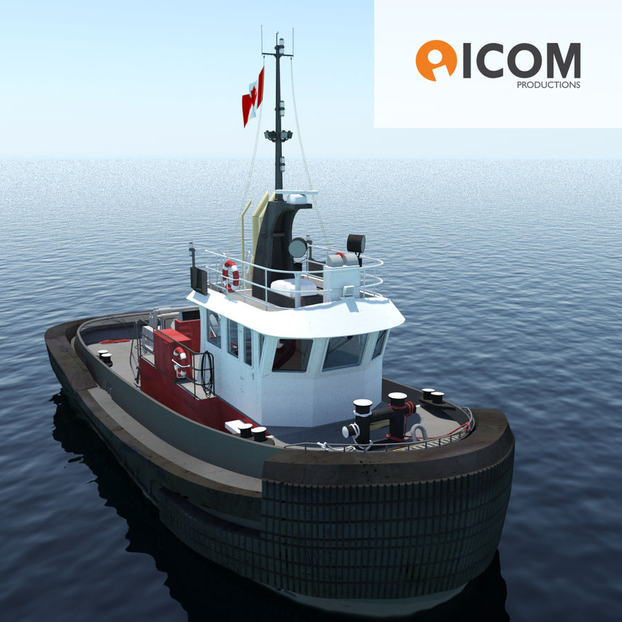 Tugboat type Twin Screw 19.5m length royalty-free 3d model - Preview no. 1