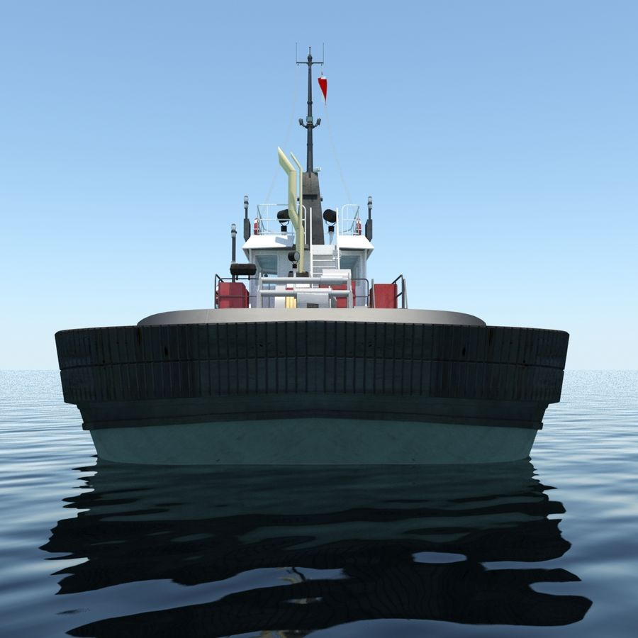 Tugboat type Twin Screw 19.5m length royalty-free 3d model - Preview no. 4
