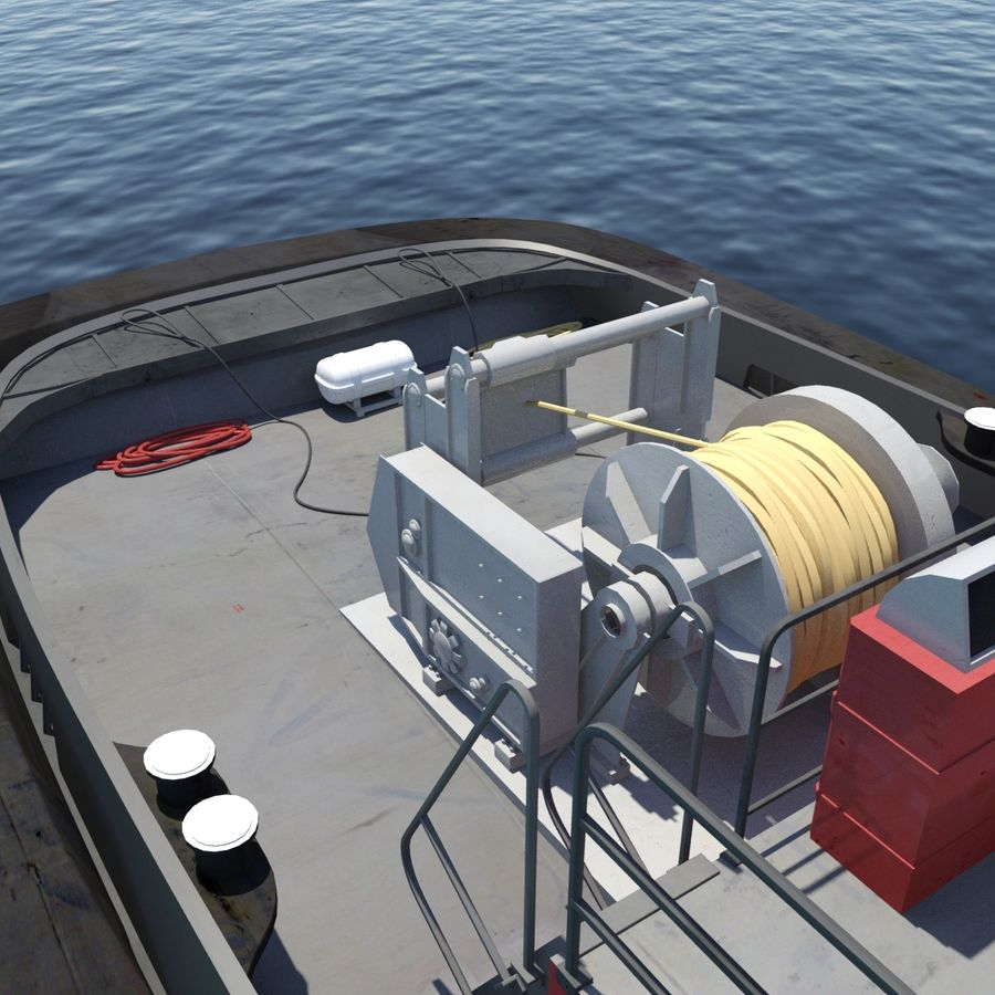 Tugboat type Twin Screw 19.5m length royalty-free 3d model - Preview no. 13
