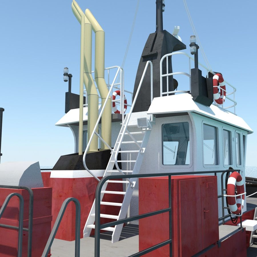 Tugboat type Twin Screw 19.5m length royalty-free 3d model - Preview no. 11