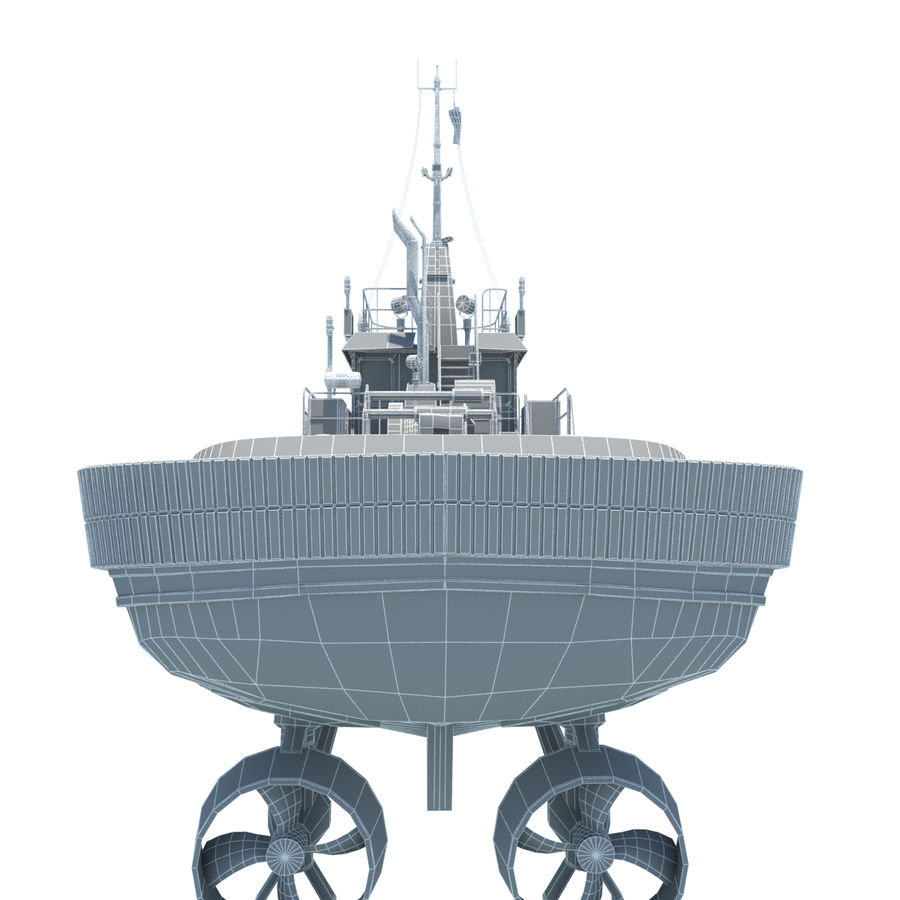 Tugboat type Twin Screw 19.5m length royalty-free 3d model - Preview no. 19