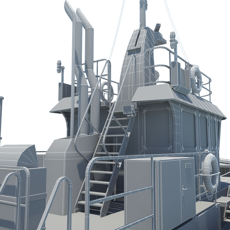 Tugboat type Twin Screw 19.5m length royalty-free 3d model - Preview no. 26