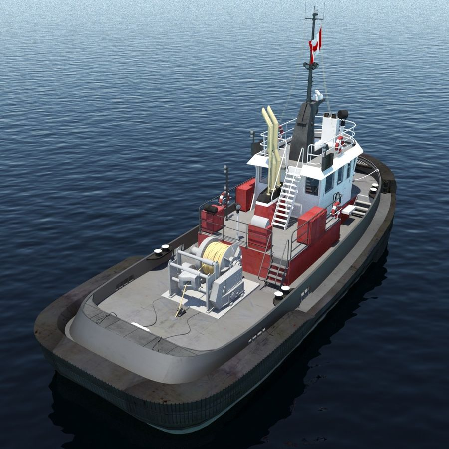 Tugboat type Twin Screw 19.5m length royalty-free 3d model - Preview no. 5