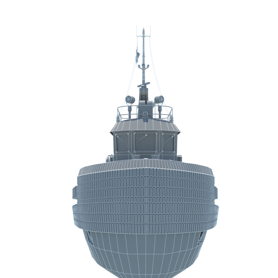 Tugboat type Twin Screw 19.5m length royalty-free 3d model - Preview no. 18