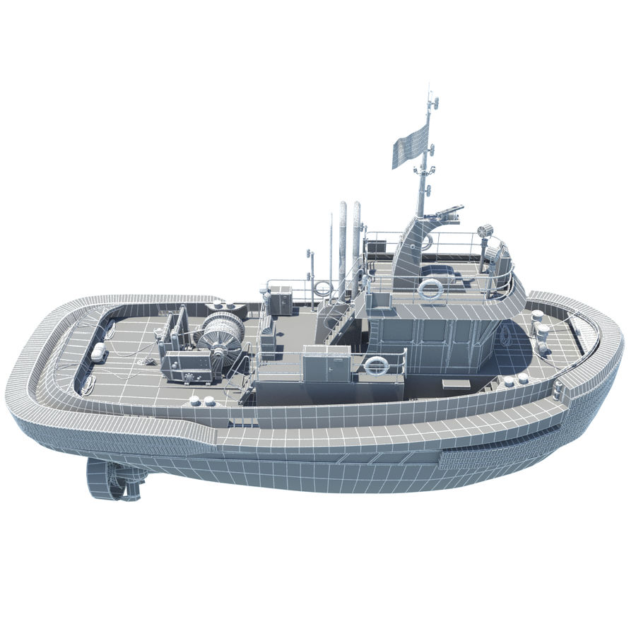 Tugboat type Twin Screw 19.5m length royalty-free 3d model - Preview no. 21