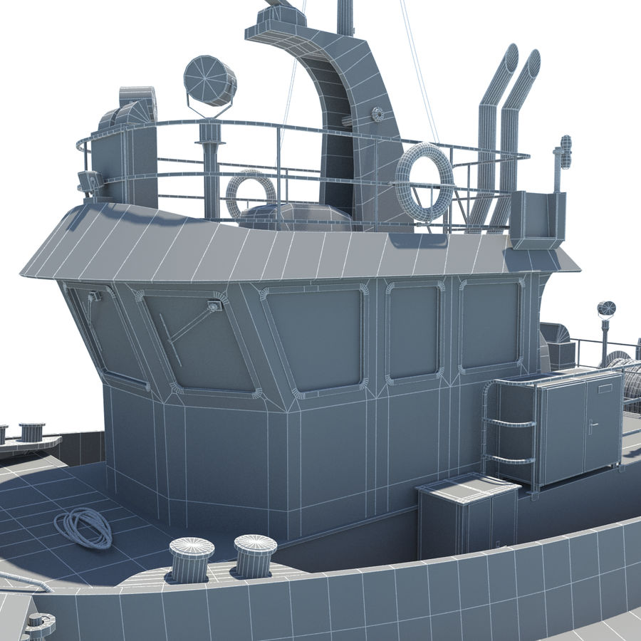 Tugboat type Twin Screw 19.5m length royalty-free 3d model - Preview no. 24