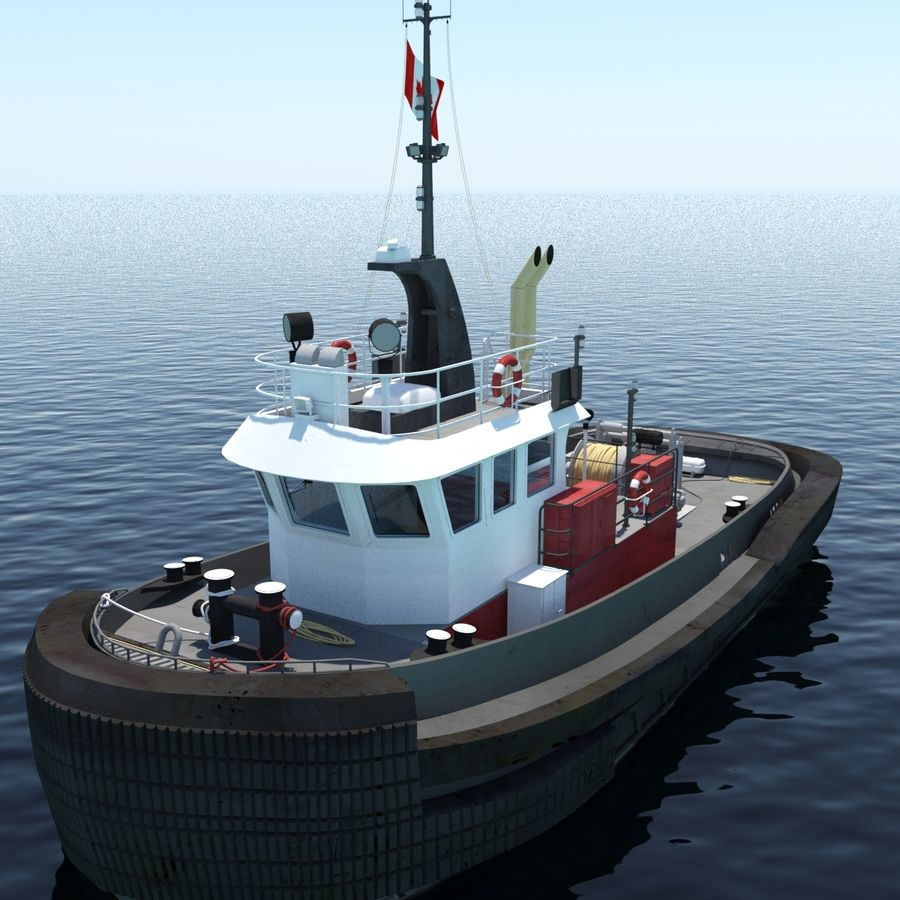 Tugboat type Twin Screw 19.5m length royalty-free 3d model - Preview no. 7