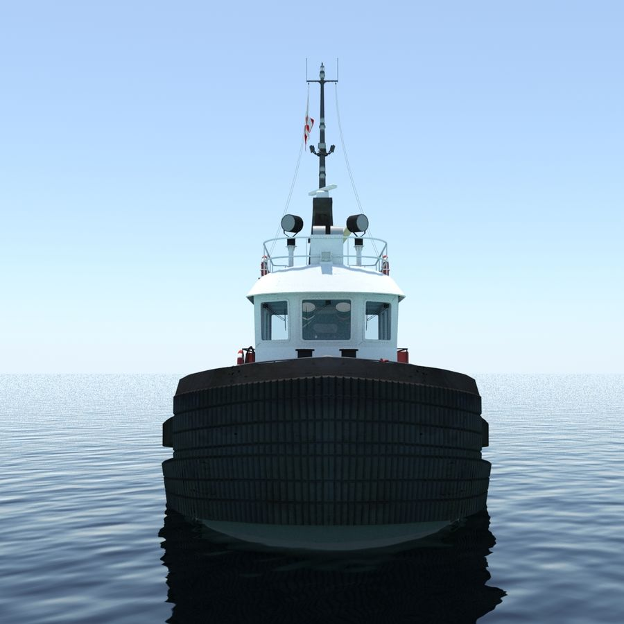 Tugboat type Twin Screw 19.5m length royalty-free 3d model - Preview no. 3