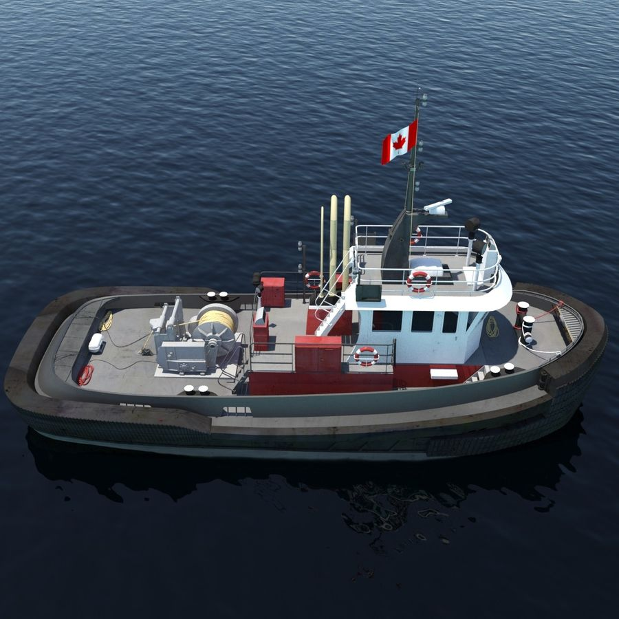 Tugboat type Twin Screw 19.5m length royalty-free 3d model - Preview no. 6