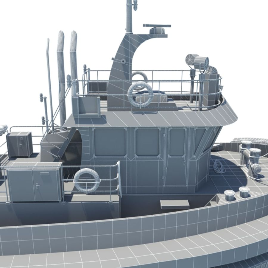 Tugboat type Twin Screw 19.5m length royalty-free 3d model - Preview no. 29