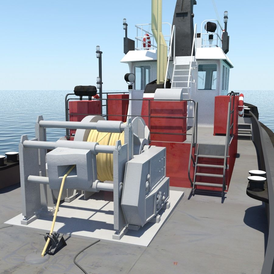 Tugboat type Twin Screw 19.5m length royalty-free 3d model - Preview no. 12