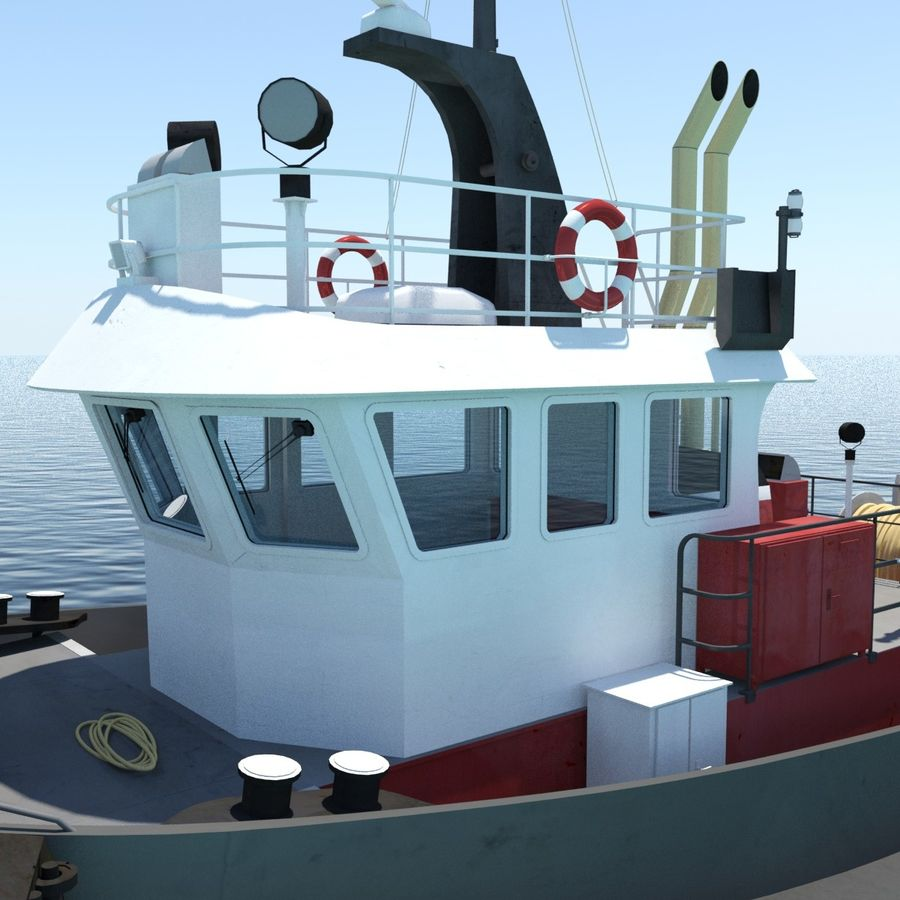 Tugboat type Twin Screw 19.5m length royalty-free 3d model - Preview no. 9