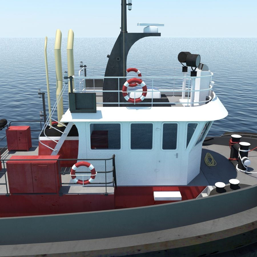 Tugboat type Twin Screw 19.5m length royalty-free 3d model - Preview no. 14