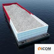 Aggregate Barge 3d model