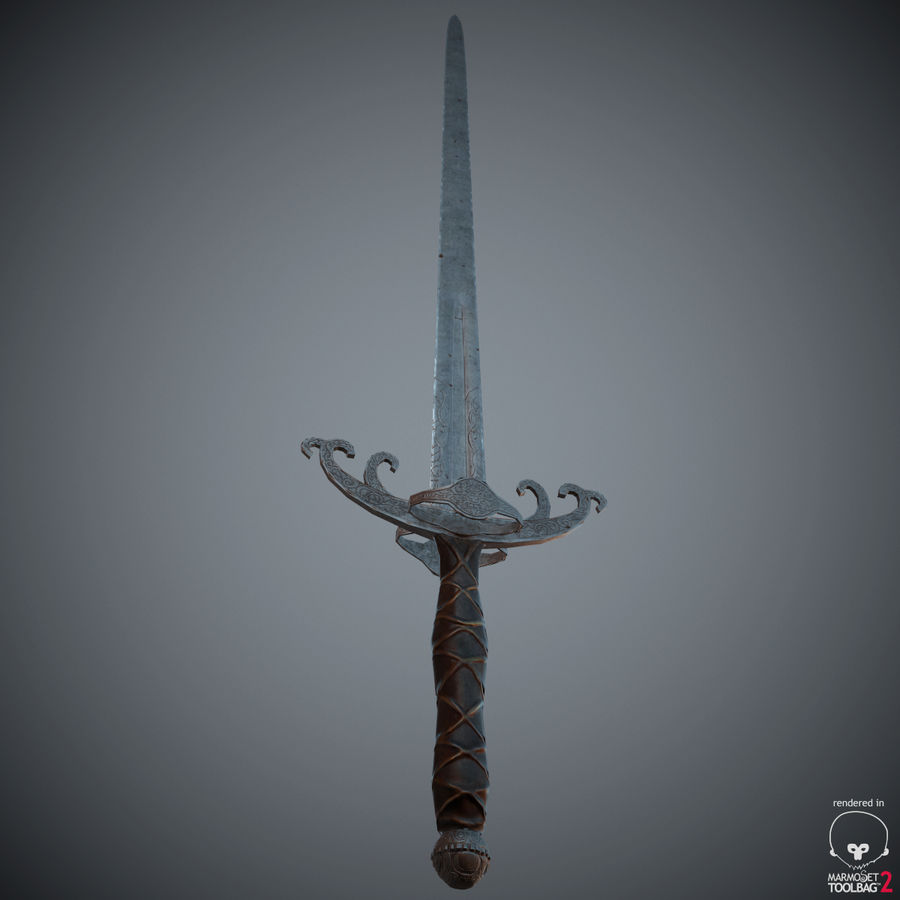 Sword Long Weapon royalty-free 3d model - Preview no. 27