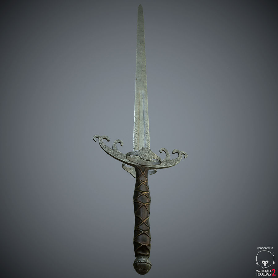 Sword Long Weapon royalty-free 3d model - Preview no. 31