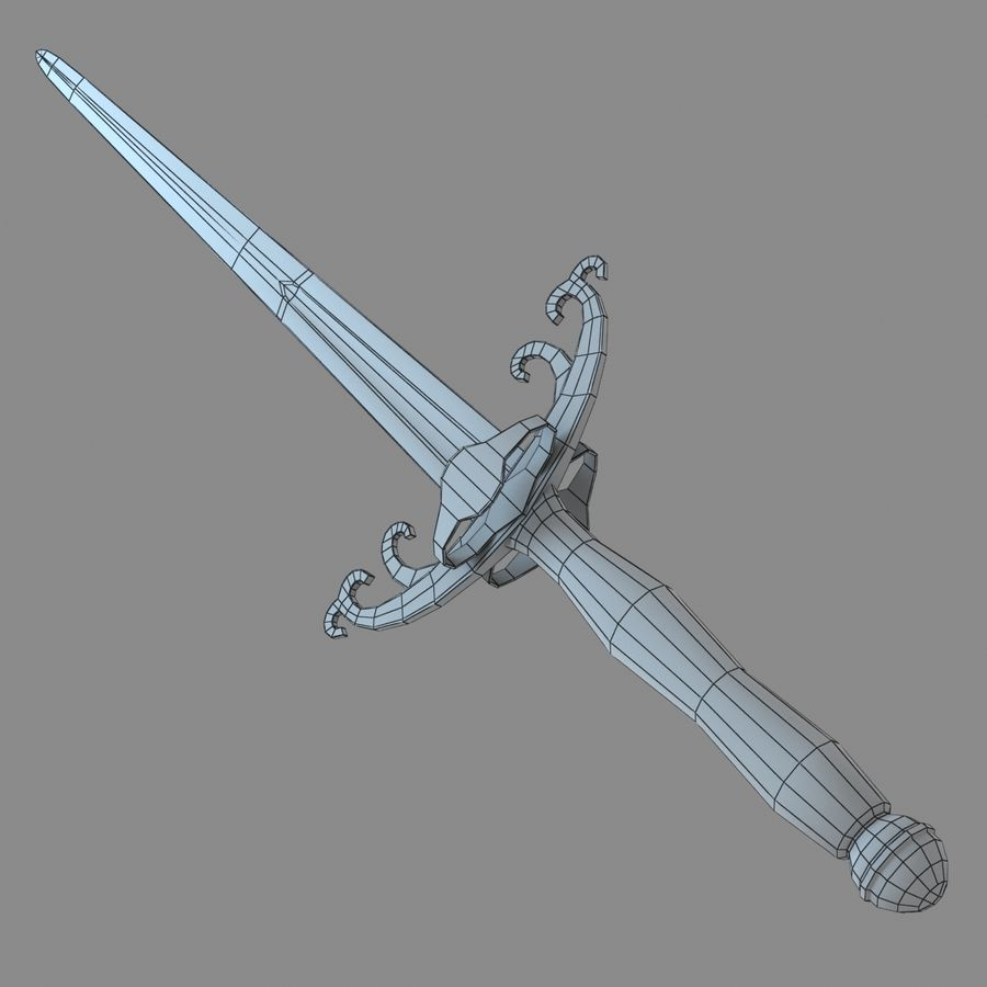 Sword Long Weapon royalty-free 3d model - Preview no. 21