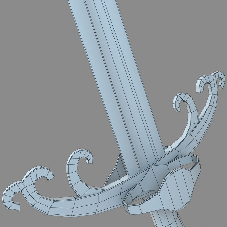 Sword Long Weapon royalty-free 3d model - Preview no. 13