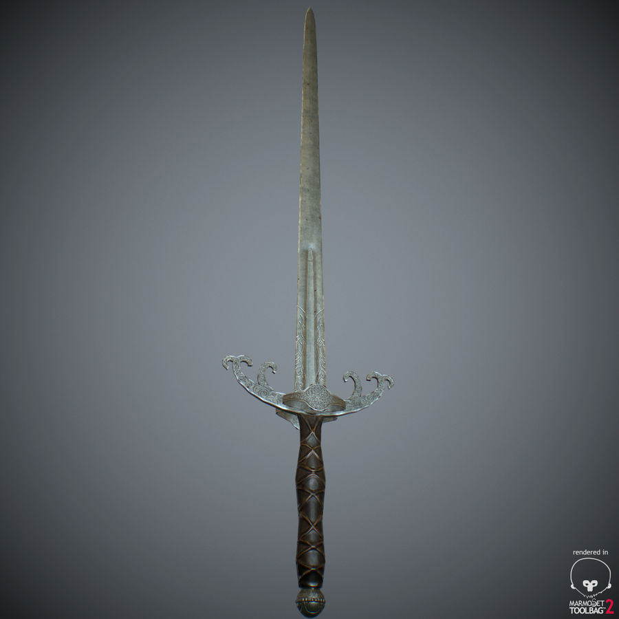 Sword Long Weapon royalty-free 3d model - Preview no. 34