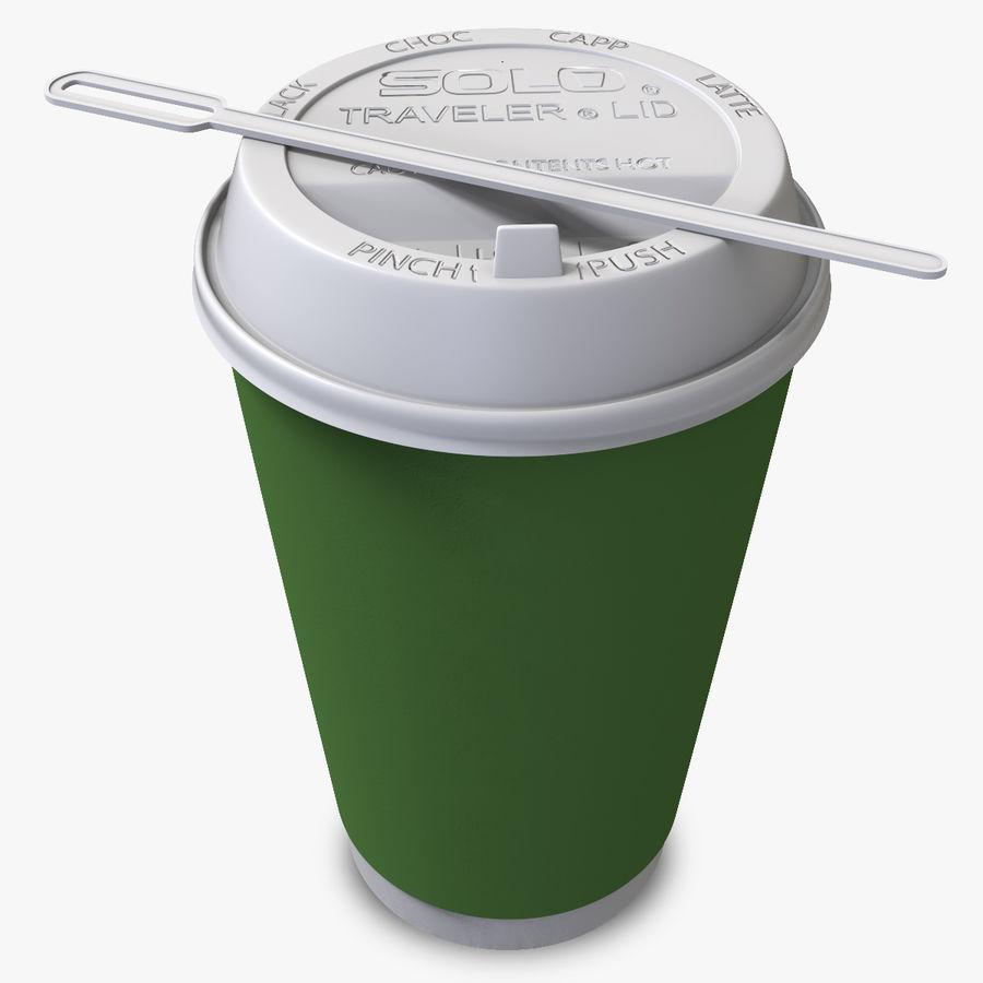 ペーパーコーヒーカップ royalty-free 3d model - Preview no. 1