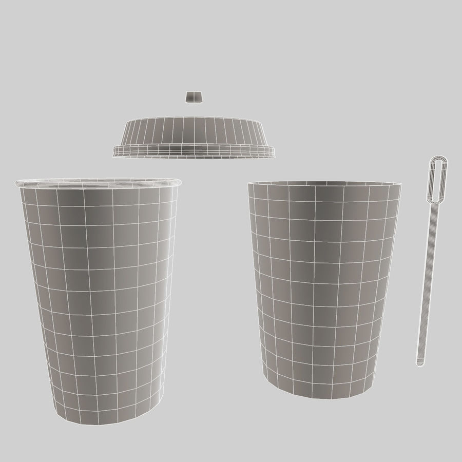 ペーパーコーヒーカップ royalty-free 3d model - Preview no. 11