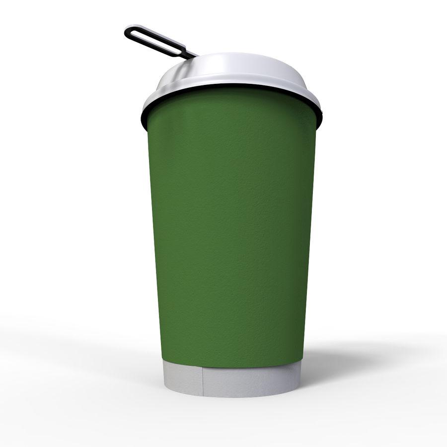 ペーパーコーヒーカップ royalty-free 3d model - Preview no. 6