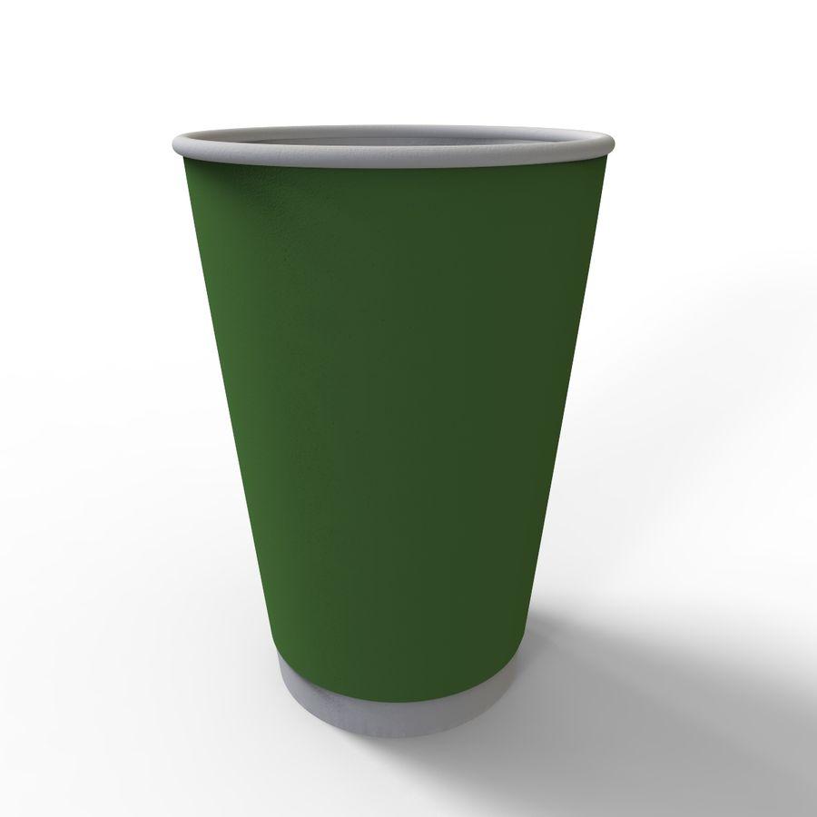 ペーパーコーヒーカップ royalty-free 3d model - Preview no. 7