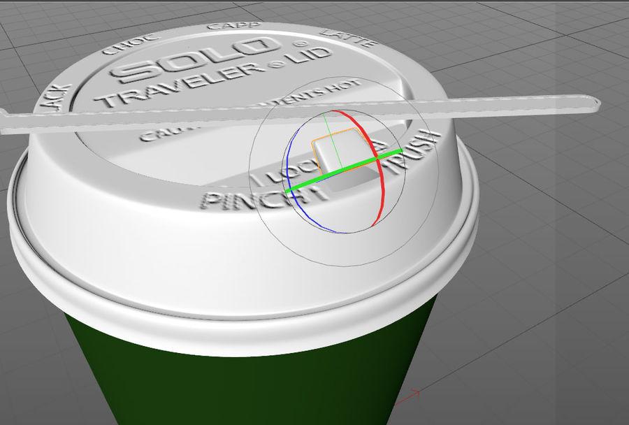 ペーパーコーヒーカップ royalty-free 3d model - Preview no. 15