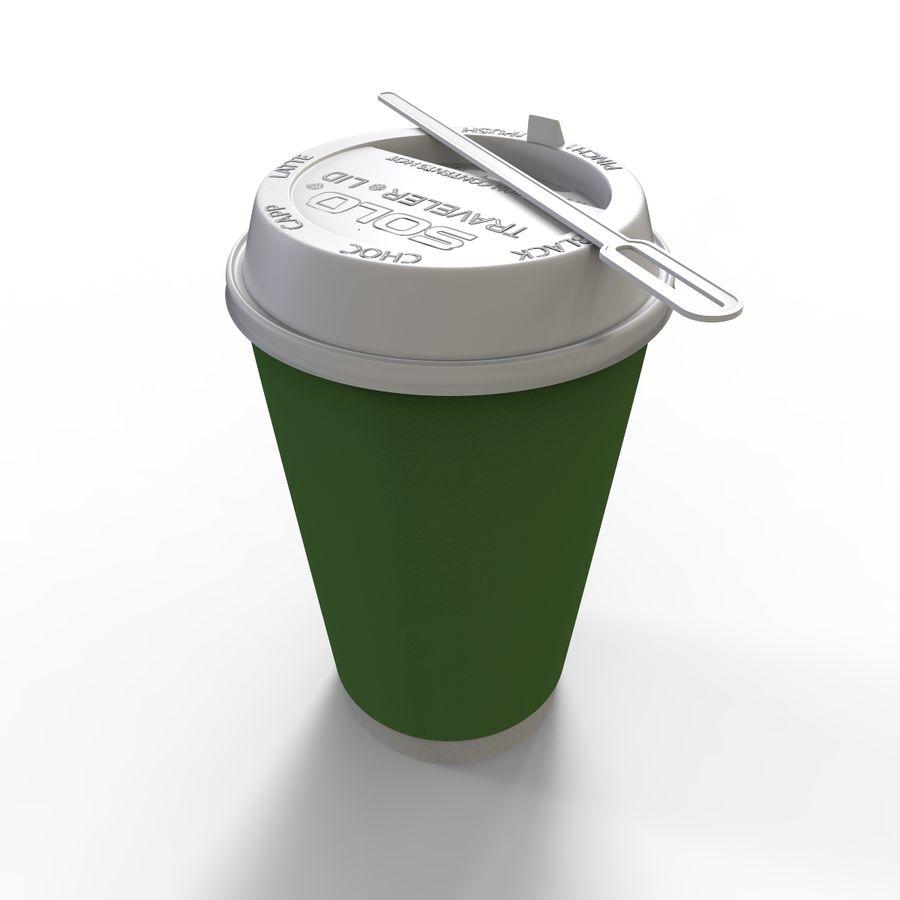 ペーパーコーヒーカップ royalty-free 3d model - Preview no. 4