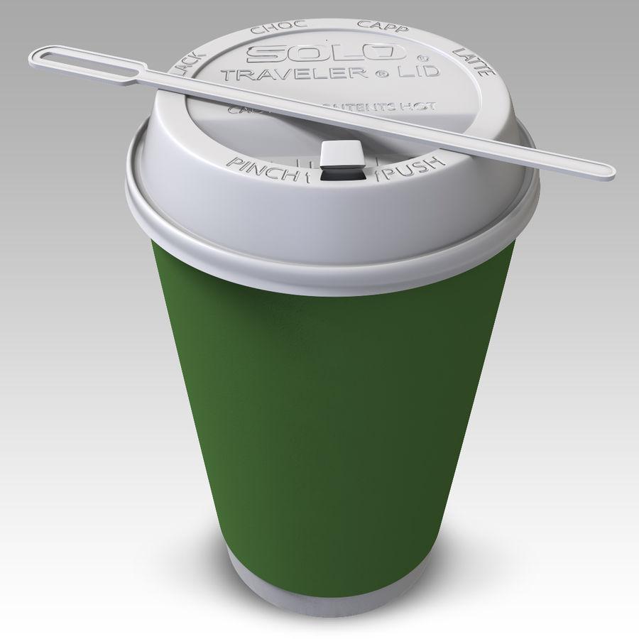 ペーパーコーヒーカップ royalty-free 3d model - Preview no. 2