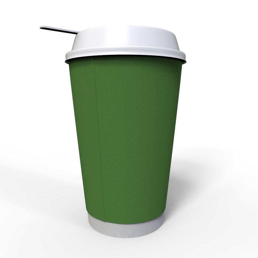 ペーパーコーヒーカップ royalty-free 3d model - Preview no. 5