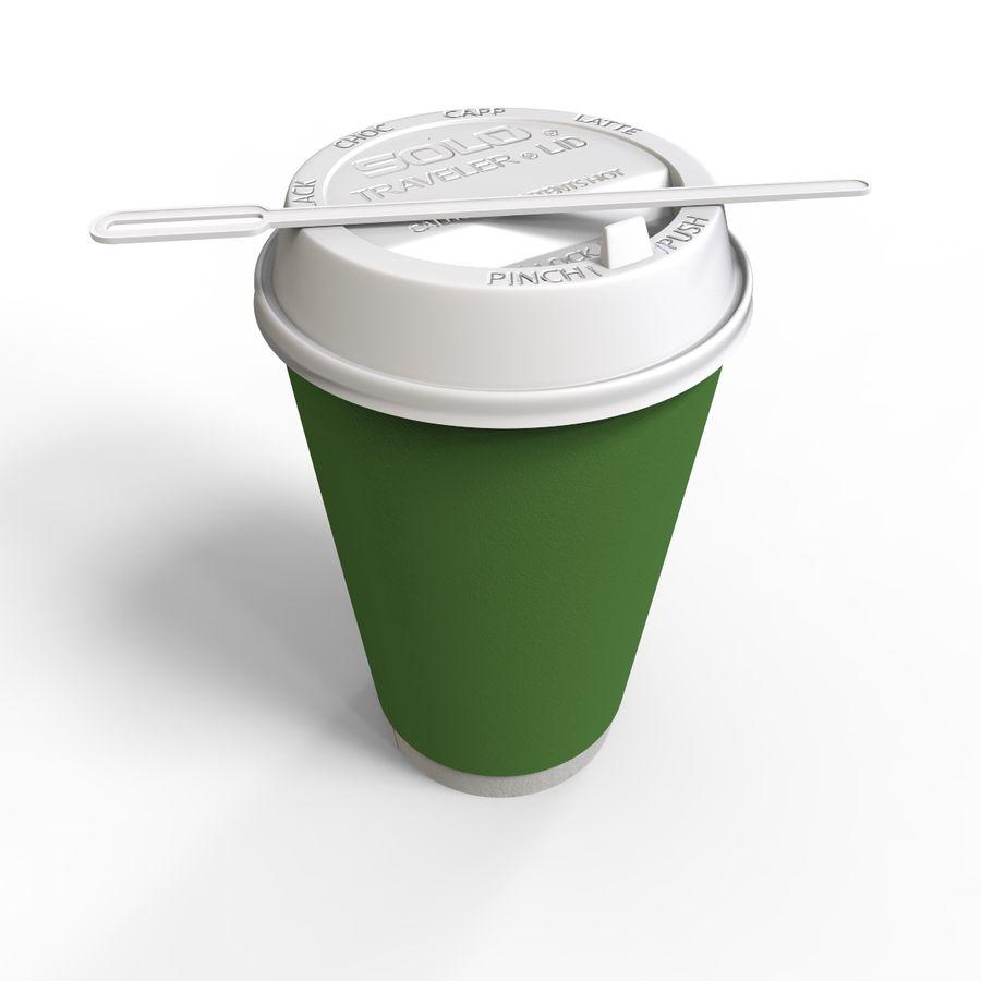 ペーパーコーヒーカップ royalty-free 3d model - Preview no. 3