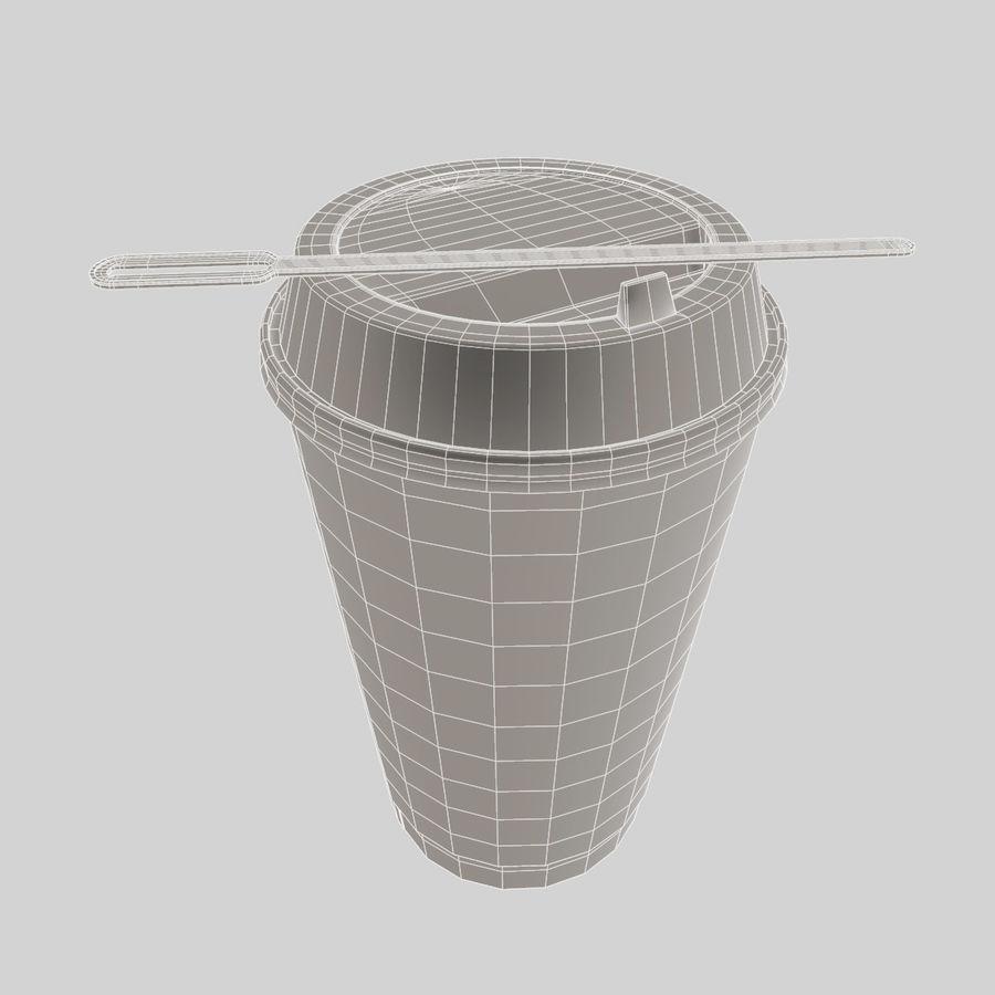 ペーパーコーヒーカップ royalty-free 3d model - Preview no. 12