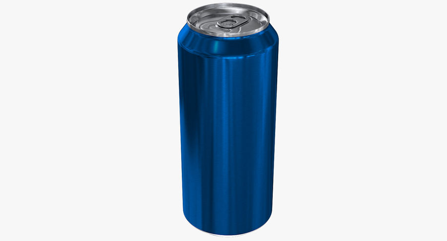 Tall Beverage Can royalty-free 3d model - Preview no. 3