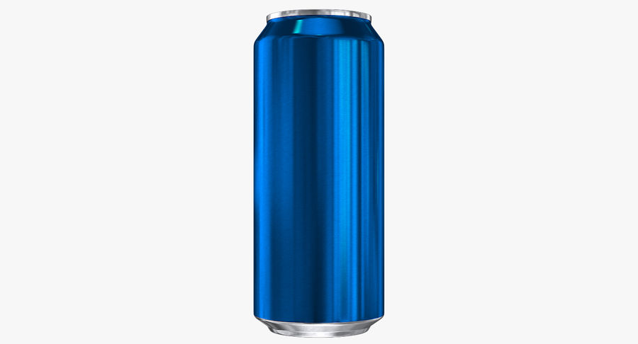 Tall Beverage Can royalty-free 3d model - Preview no. 6