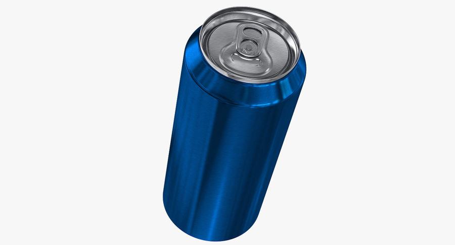 Tall Beverage Can royalty-free 3d model - Preview no. 7