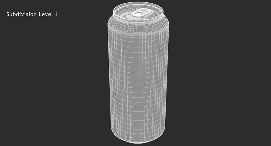 Tall Beverage Can royalty-free 3d model - Preview no. 12