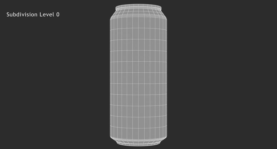 Tall Beverage Can royalty-free 3d model - Preview no. 15