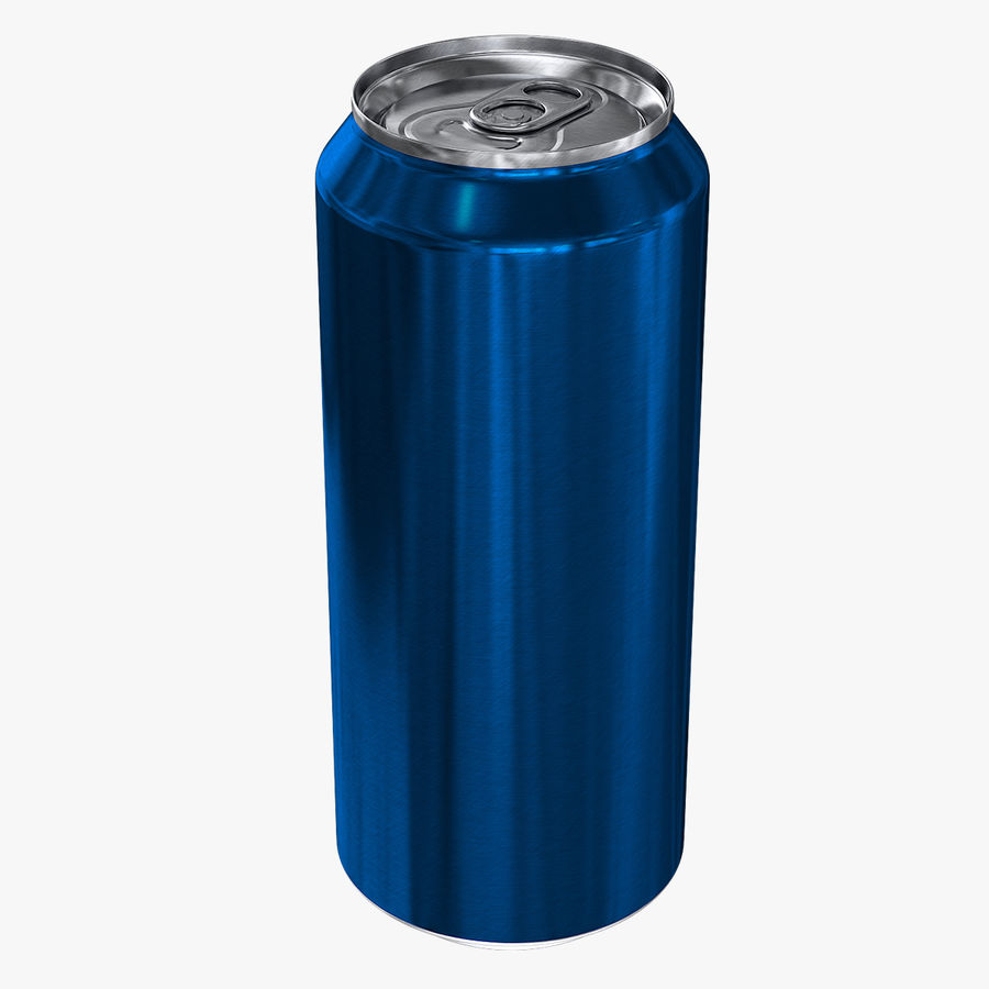 Tall Beverage Can royalty-free 3d model - Preview no. 1