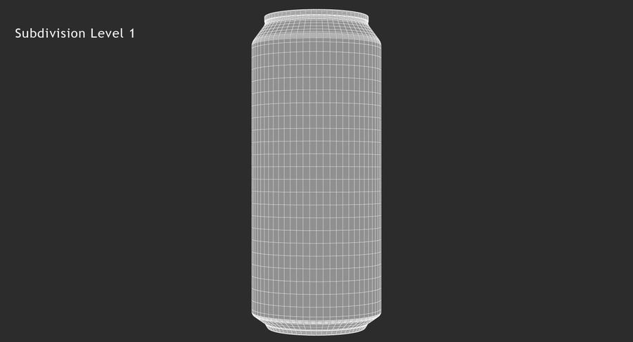 Tall Beverage Can royalty-free 3d model - Preview no. 16